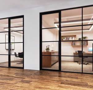 Contempo Door Double Glazed Banded